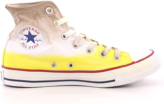 Converse , Baskets pour Femme Jaune Brown Blonde Dip Dyed ...