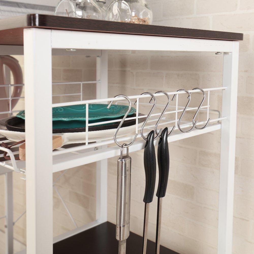Mixcept Multi-purpose 3-tier Kitchen Baker's Rack Utility Microwave Oven Stand Storage Cart Workstation Shelf W5S-BK-MI (Black) by Mixcept (Image #8)