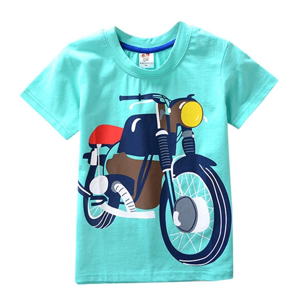 Hot Sale! Toddler Kids Baby Boys Girls Clothes, Cartoon Moto Print Short Sleeve Tops T-Shirt Blouse | Amazon