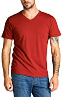 ToBeInStyle Men's Short Sleeve V-Neckline Cotton T-Shirt