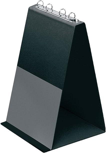 Veloflex 4102080 Tisch Flipchart A4, Präsentation, Flipchart, Aufstellringbuch, aus PVC, Hochformat, schwarz