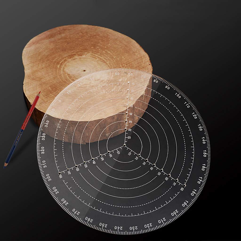 BIlinli Center Finder Compass Tool Holzbearbeitung Winkelmesser f/ür Schalen Arbeit Zeichnen Kreise Durchmesser Holzbearbeitung Center Finder