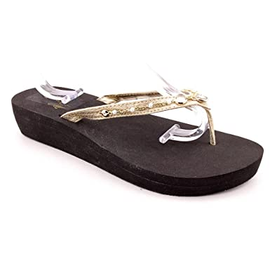 634dae64d Image Unavailable. Image not available for. Color  Marc Fisher Women s  Special 2 Thong Sandals in Gold ...