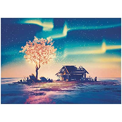 "1000 Piece Mini Jigsaw Puzzle Landscape Puzzles Large Puzzle Game Interesting DIY Toys Gift - Polar Image 16.5"" x 11.7'': Toys & Games"
