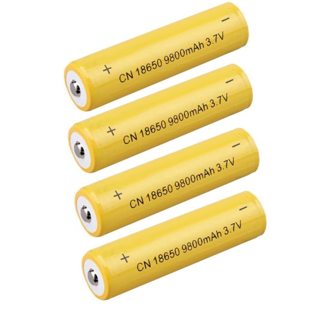 4Stück 3,7V 9800mAh Li-Ion wiederaufladbar 18650Akku für Taschenlampe Taschenlampe 4Stück 3 WSSB