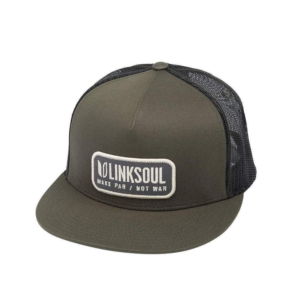 Linksoul Make Par Not War Trucker Hat Heather Grey Holiday presents 0d72af254ce