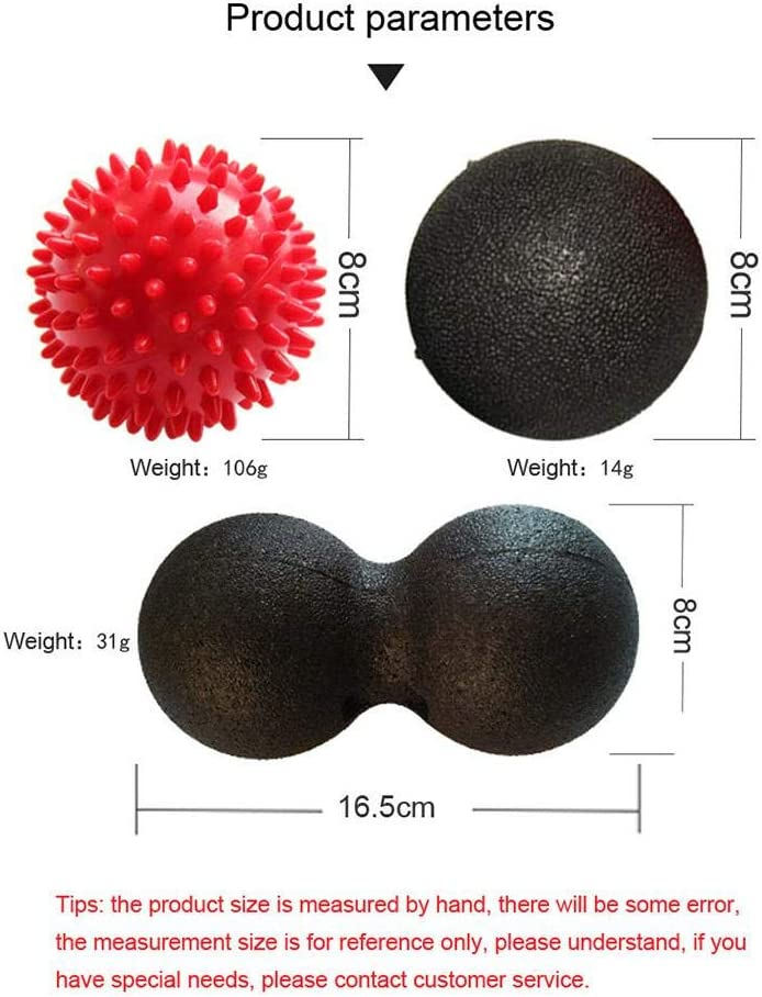 Kbsin212 Erdnuss B/älle Selbstmassage B/älleSet Faszienball Ball Igel Ball f/ür M/änner Frauen Workout Training Selbstmassage und Behandlung von Bindegewebe