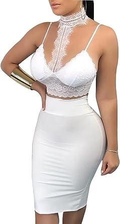 Loalirando Traje Falda Sexy Mujer Vestidos Casual de Falda Verano ...