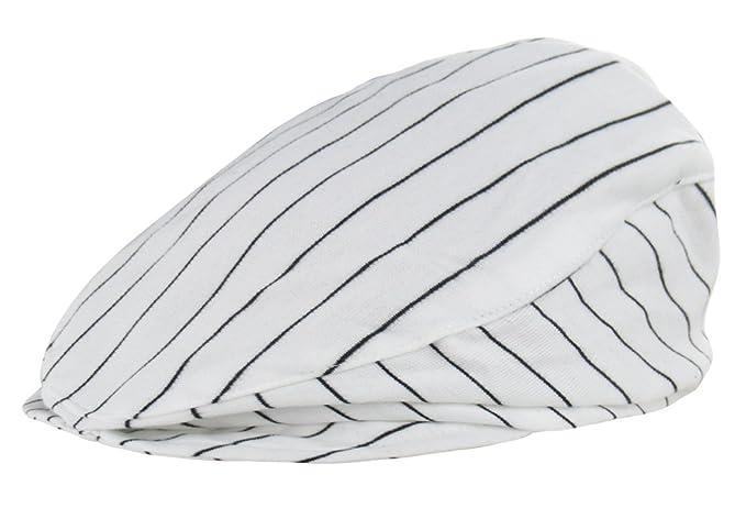 fbf2505f2b2 A J DESIGN Baby Boys  Stripe Drivers Cap Infant Gentleman Hats (12-24 Months