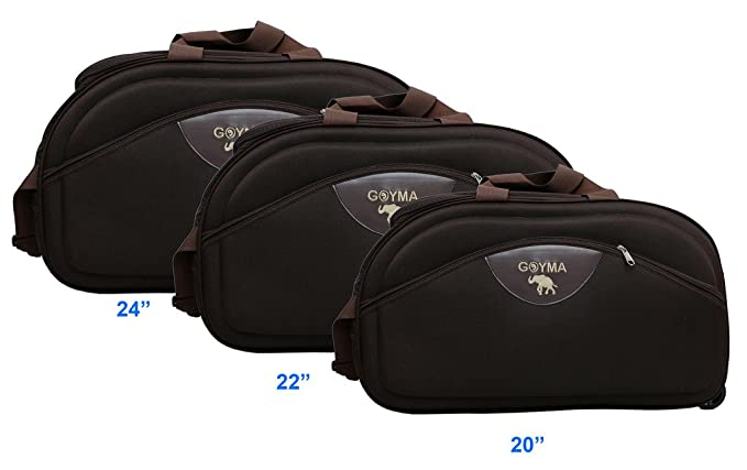 Goyma Brown Color Canvas  amp; Polyester  20,22,24  Inches Travel Duffle Bag Pack Of 3 Travel Duffles
