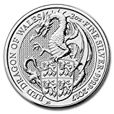 2017 UK Great Britain 2 oz Silver Queen's Beasts The Dragon Silver Brilliant Uncirculated