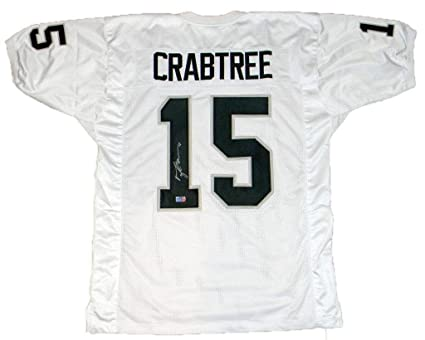 Michael Crabtree Signed Jersey -  15 White Coa - Autographed NFL Jerseys d22ad702b