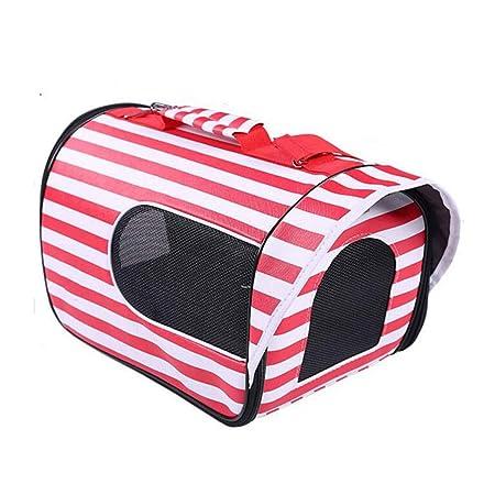 Caja Rayada para Mascotas Jaula Plegable Portátil Diagonal Gato y ...
