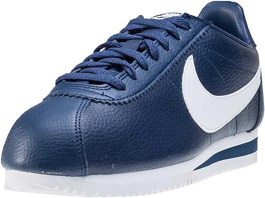 Nike Classic Cortez - Zapatillas de piel para hombre, Azul, 11.5 D(M) US