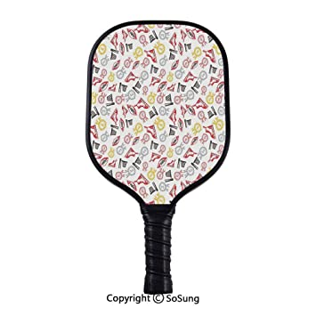 Amazon.com : Sport Pickleball Paddle, Hand Drawn Doodle ...