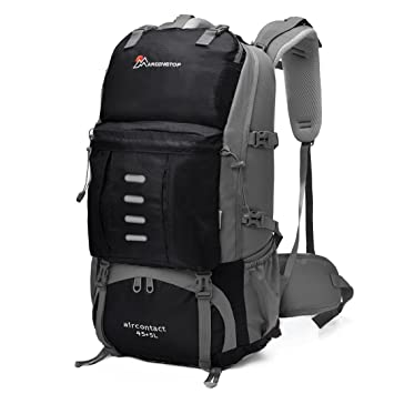 Amazon.com : Mardingtop 50 Liter Hiking Backpack with Rain Cover ...