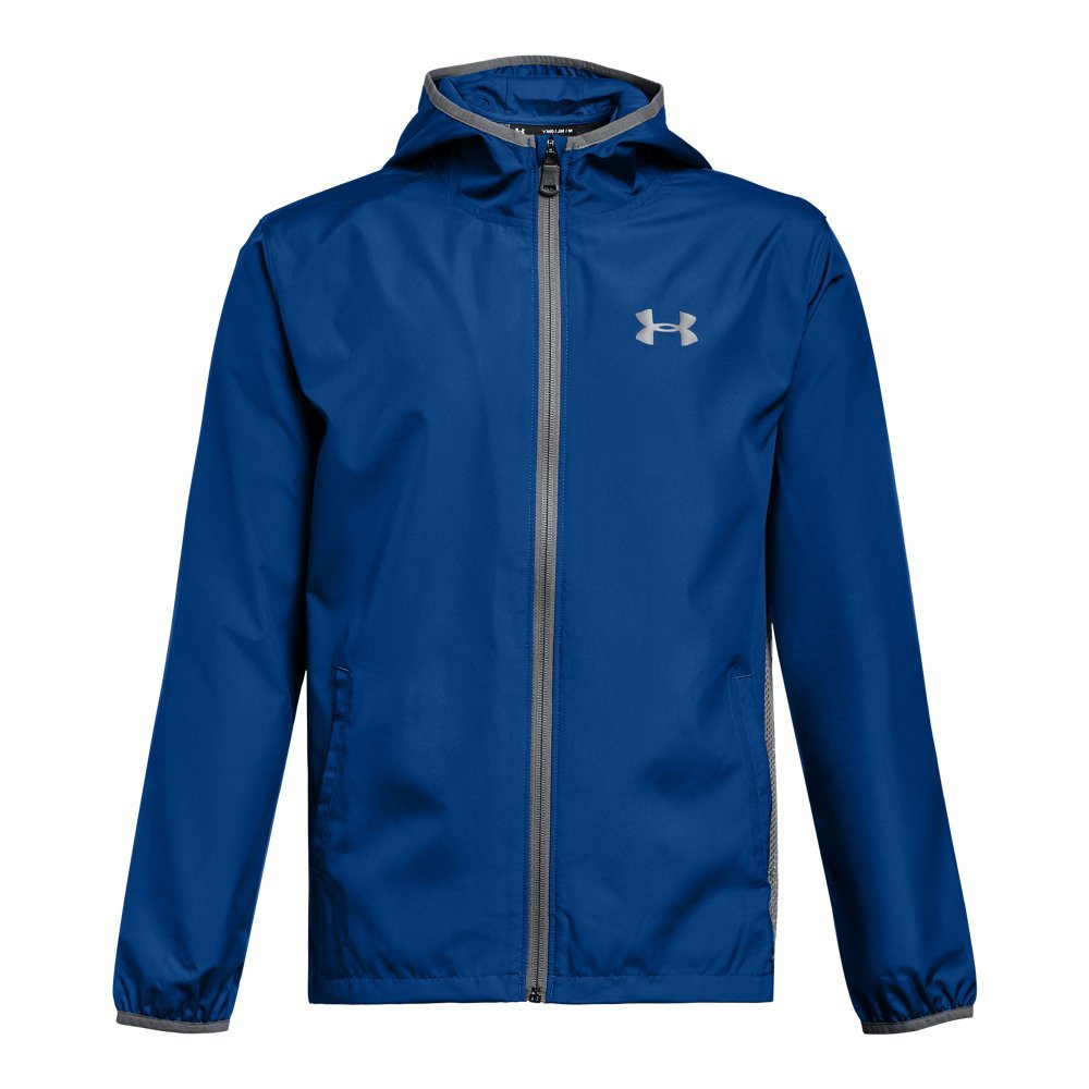 Under Armour Boys' Sackpack Jacket, Royal /Black, Youth Medium