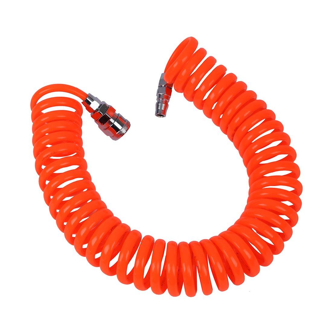 SNOWINSPRING Tuyau en spirale pneumatique flexible PU pour compresseur dair 6M 19.7ft 8mm x 5mm