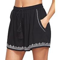 Gillberry Pants Women's Hot Pants Casual Print Shorts High Waist Short Pants