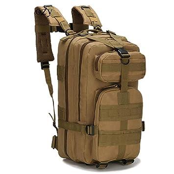 Sen-Sanhoty Al Aire Libre Camping y Senderismo Mochila Caza Viaje Mochila Nylon Impermeable Militar Bolsas tácticas Khaki Backpack Other: Amazon.es: ...