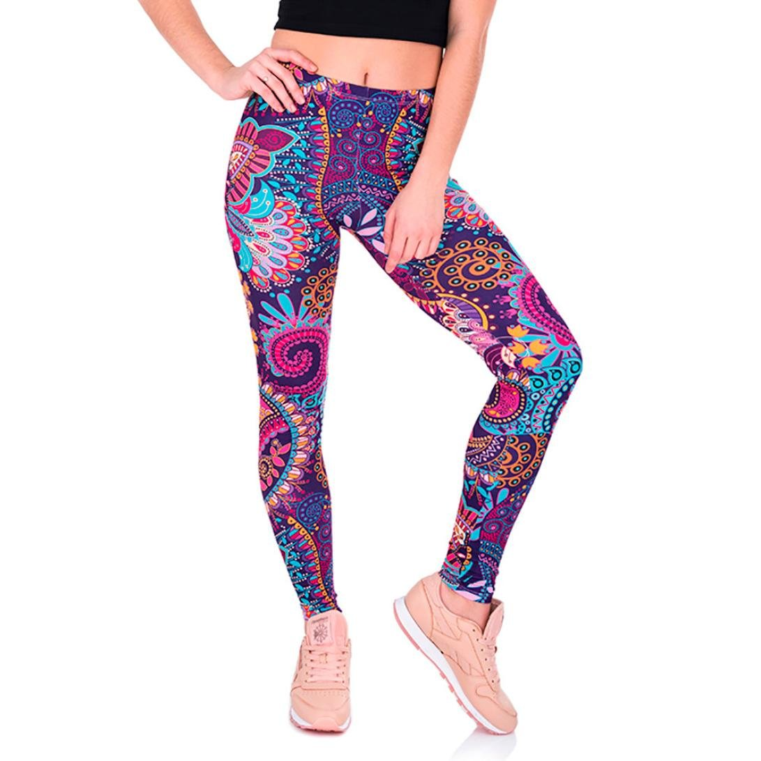 3D Trousers Yoga Pants Womens,Lolittas Gym Hot Summer Cropped Harem Boho Floral Culotte Wrap Baggy Running Sport Casual Shorts Leggings