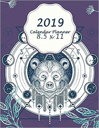 Descargar PDF Gratis 2019 Calendar Planner 8 5 X 11: Bear
