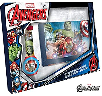 Disney Avengers Reloj Digital+Billetera 21x14, 3-10 años Kids MV15407: Amazon.es: Juguetes y juegos