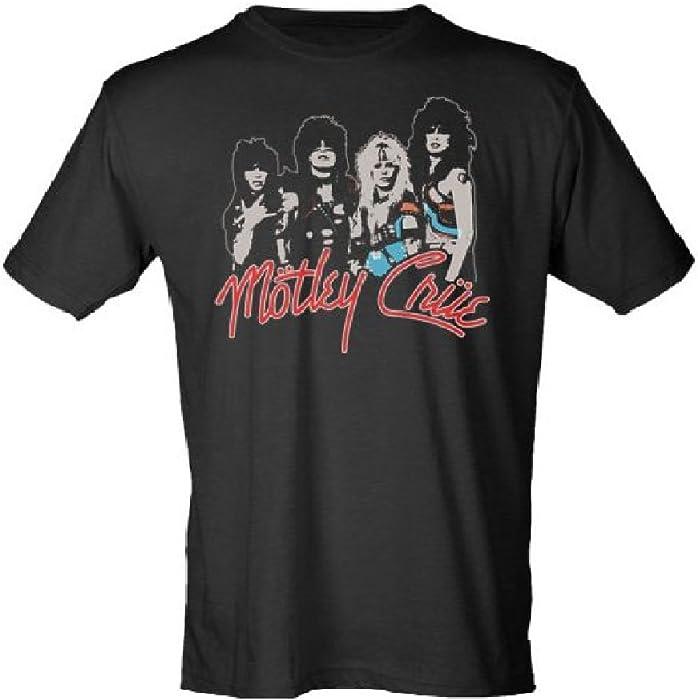 9f710cea13d7 Amazon.com  Motley Crue Final Tour Vintage Grey T-Shirt (Large ...