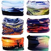 Zupoo 1/4/6PCS 16-in-1 Multifunctional Headband Sports Magic Scarf,Face Sun Mask,Neck Gaiter,Balaclava Headwear,Bandana,for Hiking, Running,Cycling,Yoga,Fishing,Hunting,Skiing