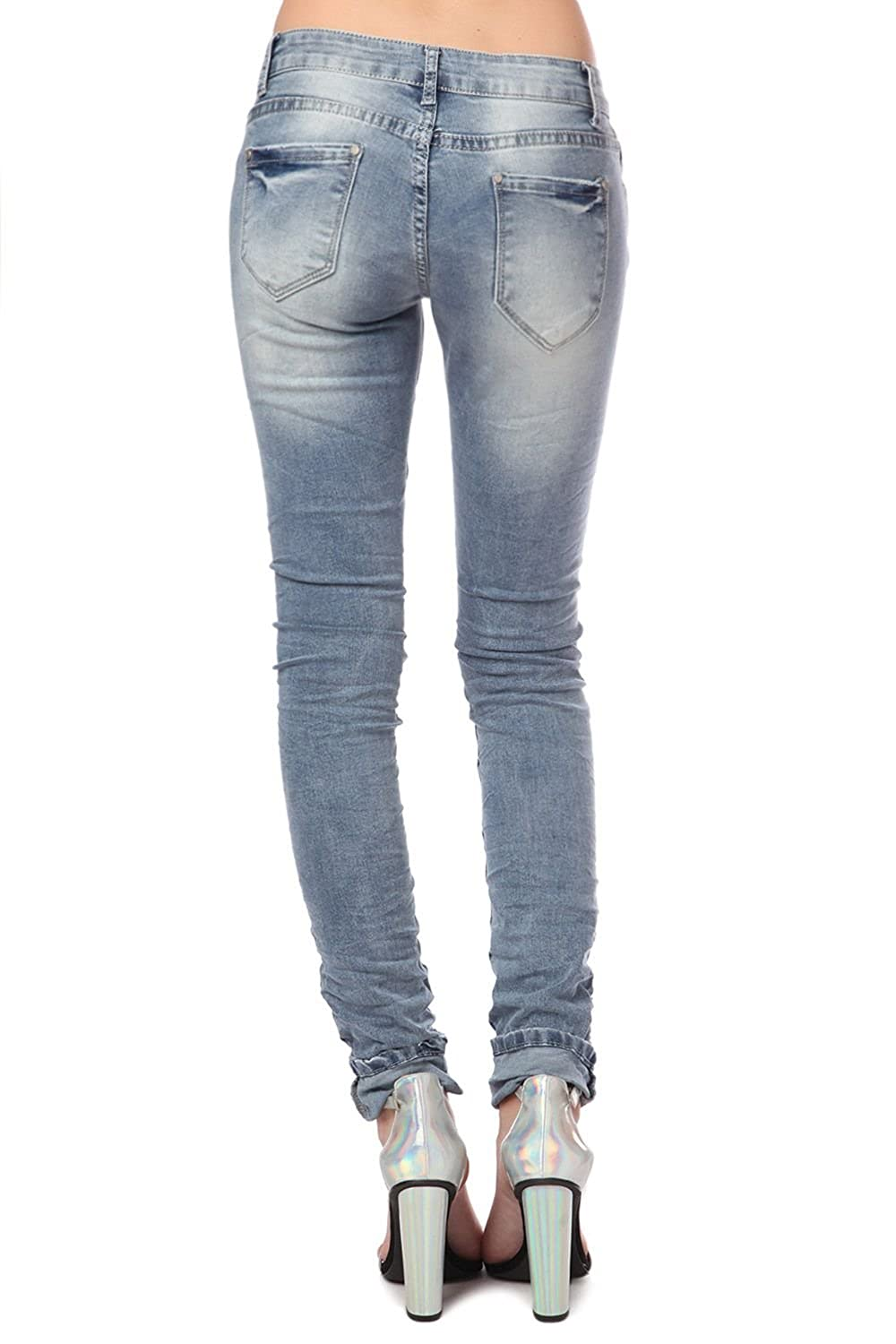 Q2 Women's Skinny jeans with patches
