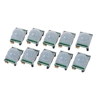 TOOGOO(R) Ajuste 10pcs IR Modulo del sensor del detector de infrarrojos piroelectrico Humano