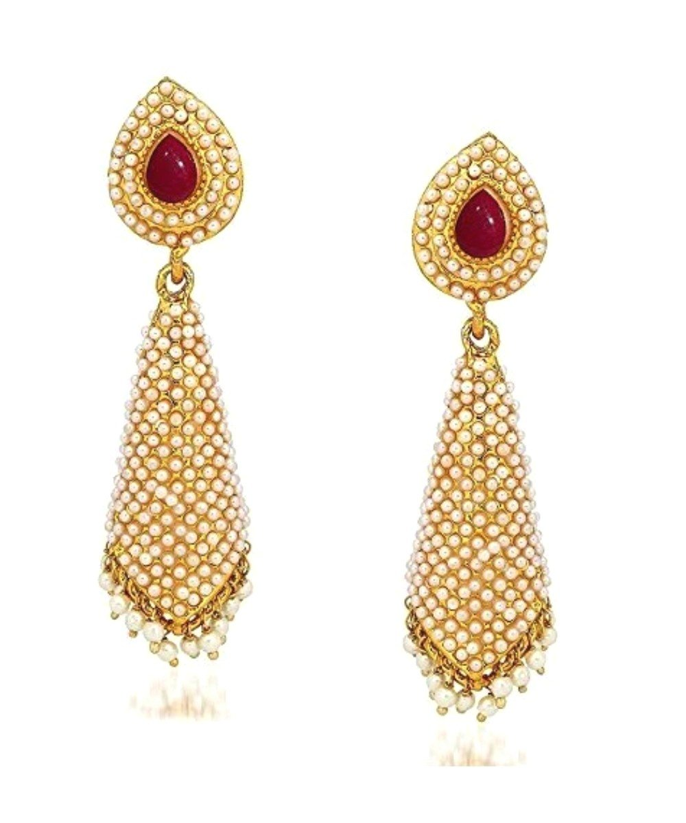 Crunchy Fashion Bollywood Style Traditional Indian Jewelry Bahubali Jhumki Jhumka Earrings for Women//Girls