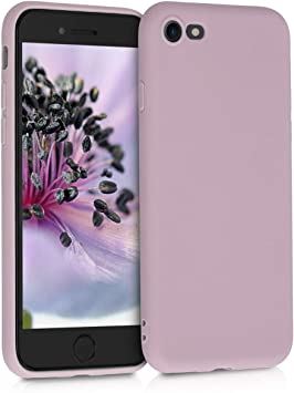 Image ofkwmobile Funda Compatible con Apple iPhone 7/8 / SE (2020) - Carcasa de TPU Silicona - Protector Trasero en Malva Pastel
