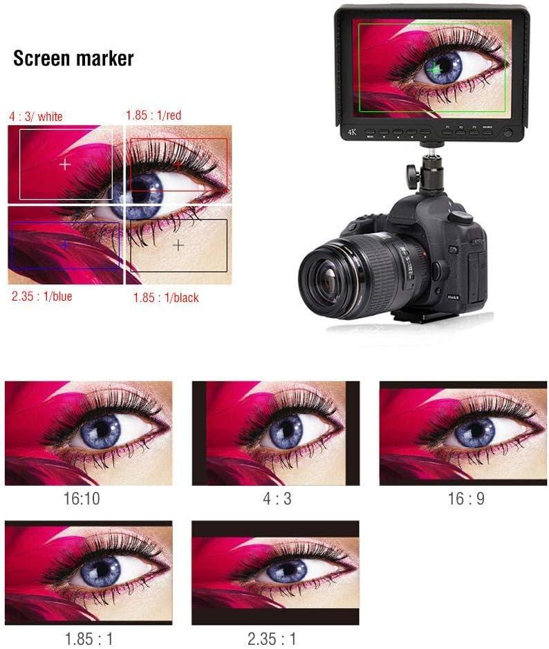 Neufday HD Camera Monitor,Bestview S7 7 HDMI 1920X1200 4K Full HD Monitor for Sony GH4 A7R Mark-II US Plug