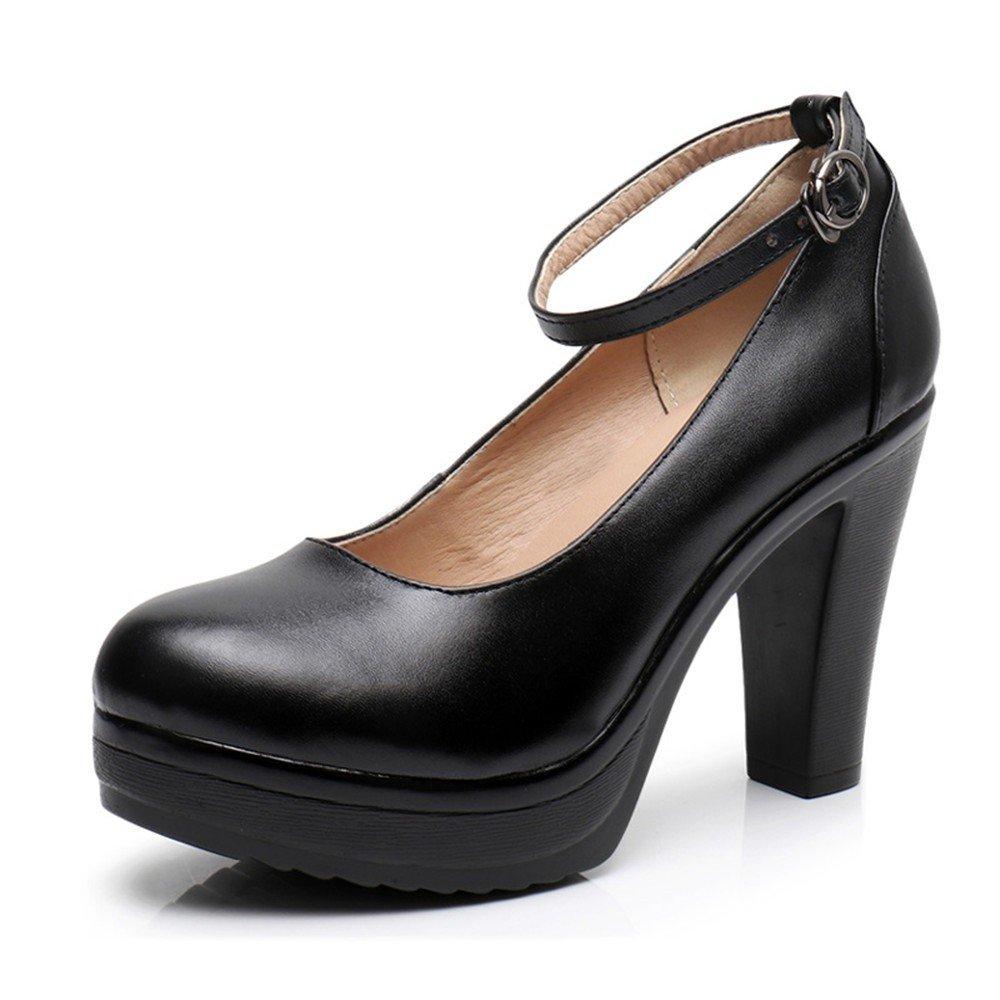 HXVU56546 Im Im Im Frühjahr Und Im Herbst Jahreszeiten Schuhe Mit Hohen Absätzen Große Werften Dick Und Dicke Frauen Schuhe Singles B07CBNJ1MQ Tanzschuhe Räumungsverkauf 966702