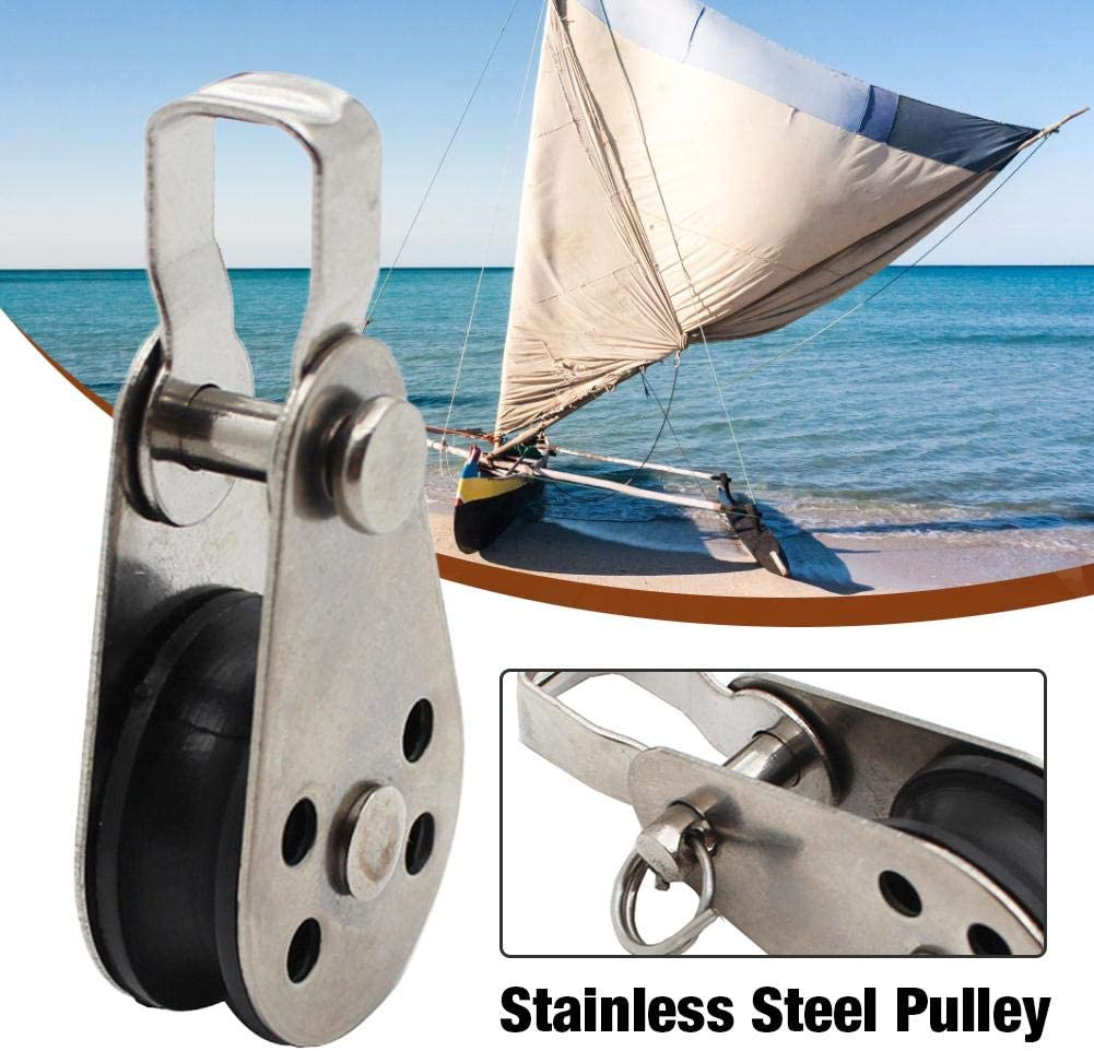 316 Stainless Steel Marine Grade Kayak Canoe Pulley Reduce Load Flexible Pulley Boat Accessories Stainless Steel Pulley Small Pulley