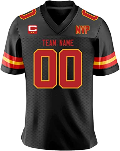 Custom Red/White Mesh Authentic Football Game Jersey for Men/Women/Youth Embroidered Team Name and Your Numbers