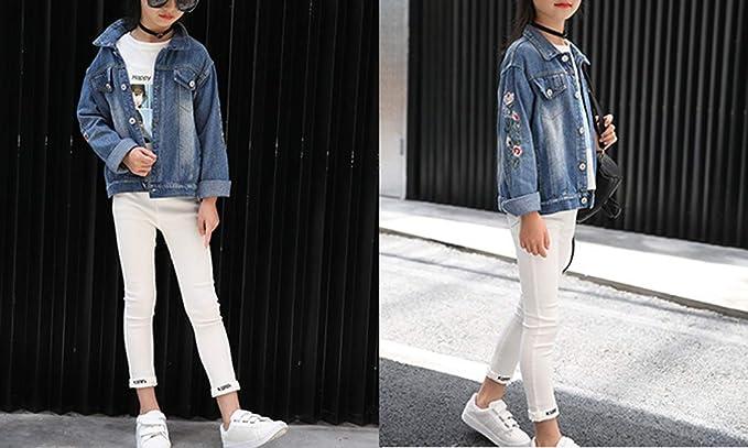 Denim Jackets Girl Denim Jackets Classic Basic Button Down Coat Girls/' Outwear