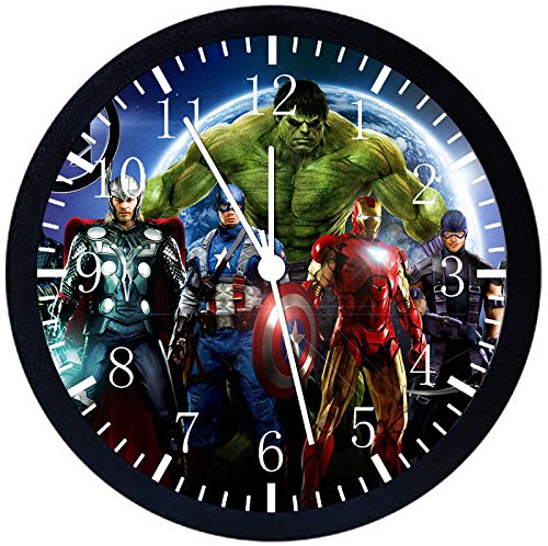 Avengers Black Frame Wall Clock