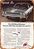 Wall-Color 7 x 10 METAL SIGN - 1969 Plymouth Road Runner - Vintage Look Reproduction