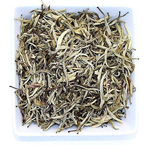 Tealyra - Luxury Jasmine Silver Needle White Losse Tea - Organically Grown in Fujian China - Loose Leaf Tea - Caffeine Level Low - 110g (4-ounce) by Tealyra (Image #1)