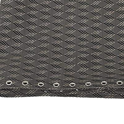 Fityle Gray Rhombus Recliner Cloth Replacement for Zero Gravity Chairs 63x17inch (with 4 Laces) : Garden & Outdoor