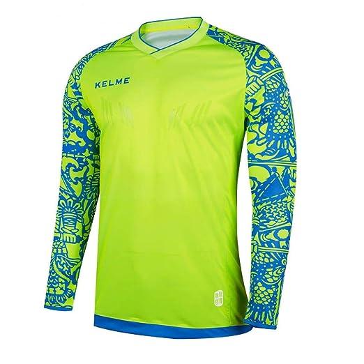 Amazon.com: KELME Goalkeeper Jersey Long Sleeve Professional ...