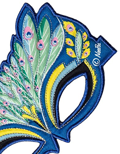 Fanciful Fabric Peacock Mask, 7''L - http://coolthings.us