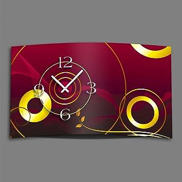 DIXTIME Digital – Tipo Abstracto Diseñador Reloj de Pared Moderno Abstracto Relojes de Pared Diseño Silencioso