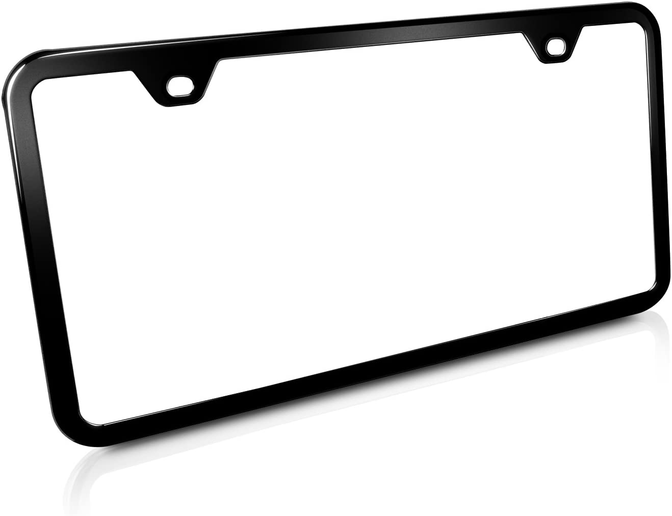 Glossy Black License Plate Frame HAPPINESS IS PLAYING MY PIANO Auto Accessory