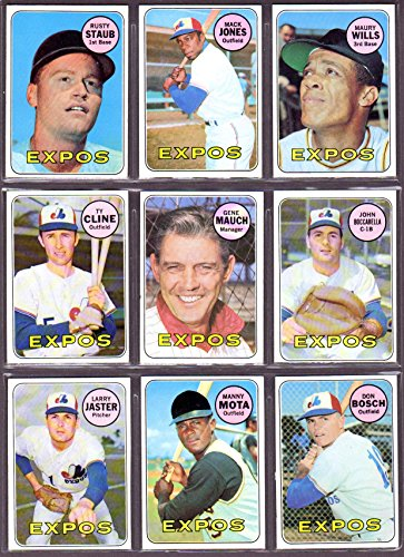 Montreal Expos 1969 Topps Team Set (26 Cards) (Inaugural Year) BOLD COLOR , Sharp!! (Rusty Staub) (Mack Jones) (Maury Wills) (Ty Cline) (Gene Mauch) (John Boccabella) (Larry Jester) (Manny Mota) and More