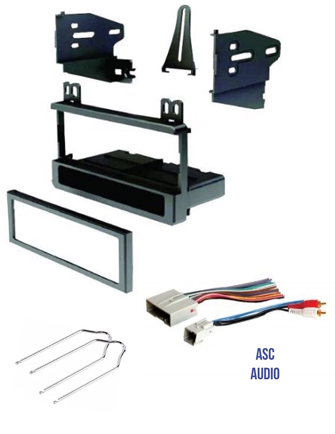Car Stereo Install Dash Kit Compatible Vehicles Listed Below and Tool for Installing an Aftermarket Single Din Radio for select Ford Lincoln Mercury Vehicles Wire Harness