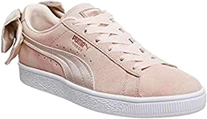 PUMA Women's Suede Bow Trainers Pink, 7