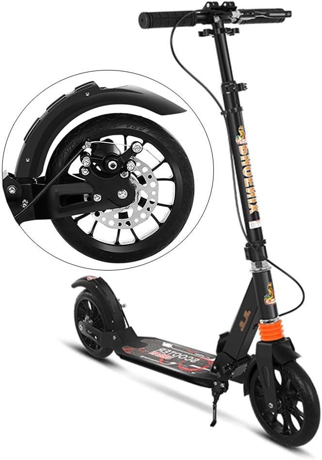 大人用 キックボード 大人の蹴りのスクーター、ディスクブレーキが付いている容易な折る調節可能な通勤のスクーター、大きい子供のために完成します、男の子女の子、100kgまで